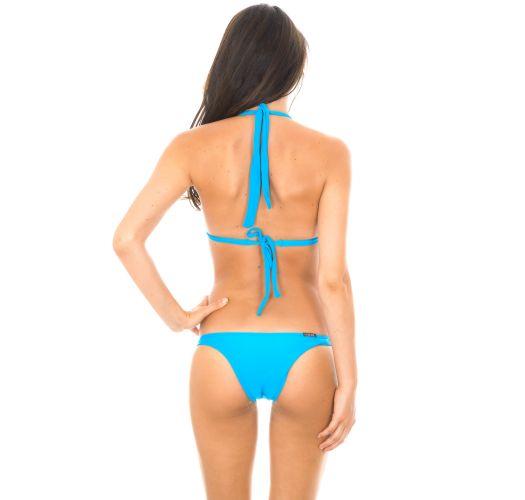Maillot de bain triangle à coques bleu - BLUE FIXO BASIC