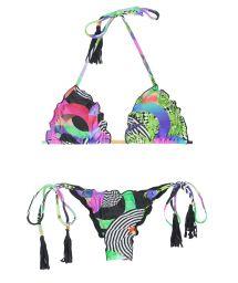 Brazilian scrunch bikini with tassels - BOSSA FRUFRU