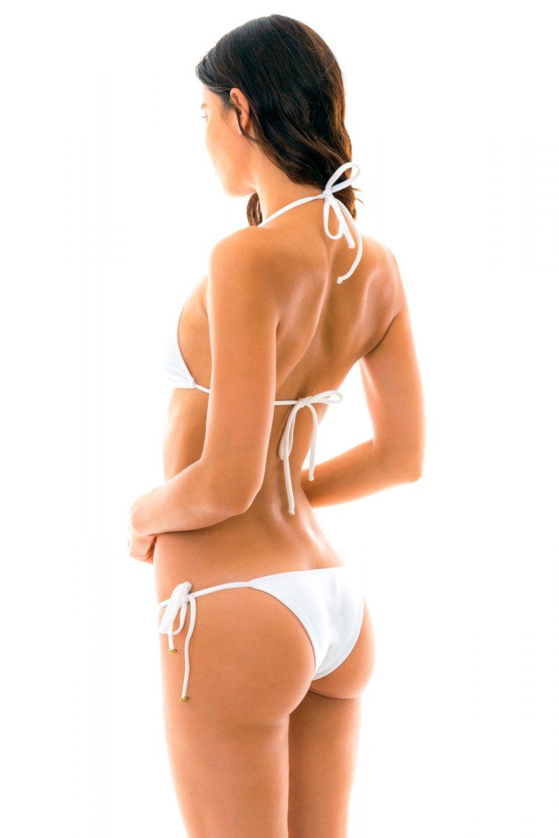 Vit knytbar bikini - BRANCO TRI LACINHO