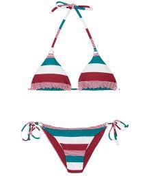 Tri-coloured Brazilian bikini - BUZIOS CHEEKY