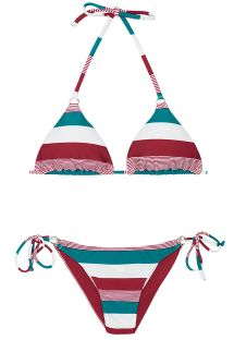 Tri-coloured Brazilian bikini - BUZIOS CHEEKY
