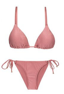 Accessorized iridescent pink scrunch bikini  - CALLAS INV COMFORT