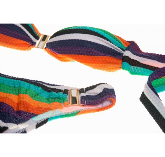 Razmećite se svojim telom u ovom raznobojnom i potpuno postavljenom bikiniju sa trakastim gornjim delom! - CANABRAVA