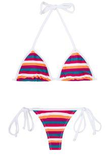 Maillot de bain string rayé multicolore - CAVALO MARINHO