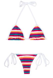 Bikini med g-streng farvede striber - CAVALO MARINHO