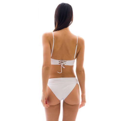 White fixed longline bikini with a waistband - CLOQUE BRANCO COS COMFORT