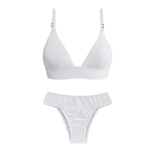 White laced back bikini - CLOQUE BRANCO TRI COS