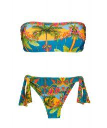BBS X RIO DE SOL - Bikini bandeau imprimé coloré - COCOS RETO