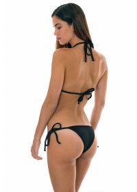 Original black textured triangle bikini - DUNA BLACK DETAIL