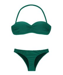 Vadderad, grön, texturerad bandeaubikini - DUNA GREEN TOMARA QUE CAIA