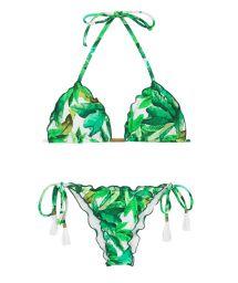 Lövmönstrad skrynklad bikini- FOLHAGEM FRUFRU