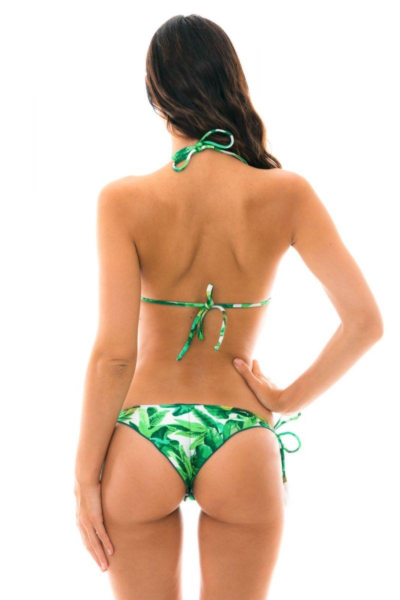 Leaves print scrunch bikini - FOLHAGEM FRUFRU