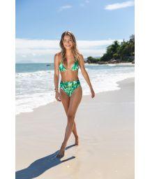 Green high-waisted bikini - FOLHAGEM HOT PANT