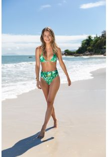Green high-waisted bikini - FOLHAGEM HOT PANT