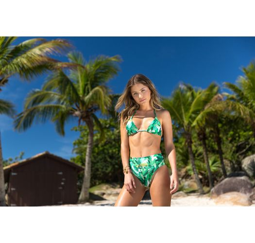Grön bikini med hög midja - FOLHAGEM HOT PANT