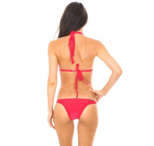 Dark pink padded triangle bikini - FRUTILLY FIXO BASIC