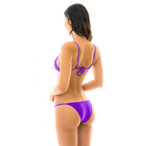 Purple side-adjustable Brazilian bikini - FUCHSIA ARG FIXO