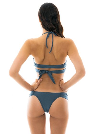 Skifferfärgad bikini, BH med omlottknytning - GALAXIA TRANSPASSADO