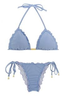 Bikini scrunch con accessorio denim - GAROA FRUFRU