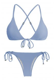 Blue denim side-tie Brazilian bikini - GAROA TRI ARG