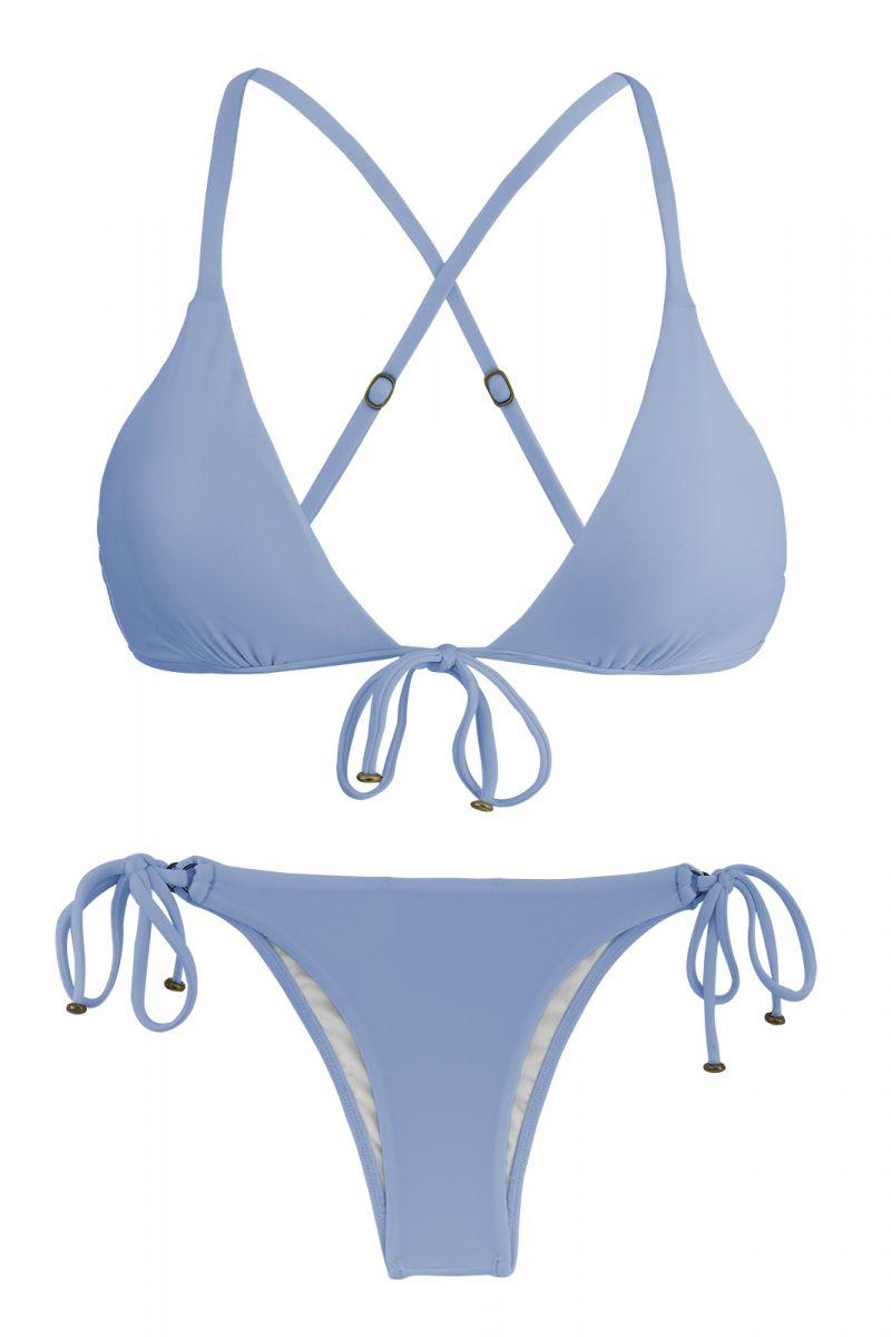 Blue denim side-tie Brazilian bikini - GAROA TRI ARG