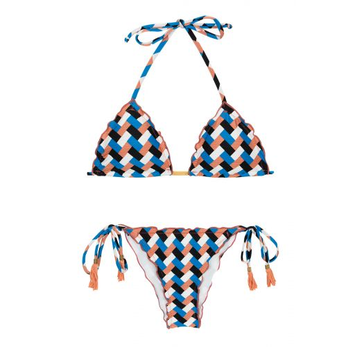 Bikini mit seitlicher Schnürung und geometrischem Print - GEOMETRIC FRUFRU