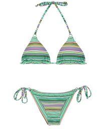 Brazilian bikini with green stripes - IEMANJA CHEEKY