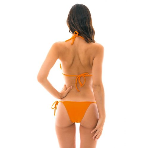 Orange side-tie Brazilian bikini - ITAPARICA TRI