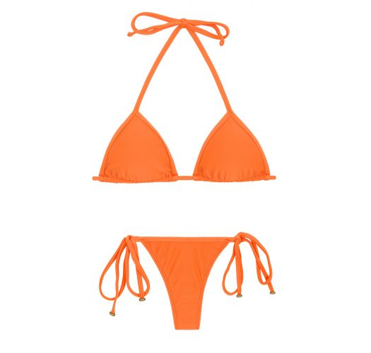 Orange side-tie string Brazilian bikini - ITAPARICA TRI MICRO