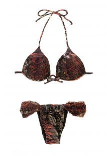 Атмосфера джунглей создаётся этим красивым бразильским бикини, который невероятно сексуален и женственен своим принтом с