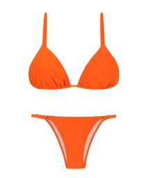 Orange adjustable Brazilian bikini - KING ARG FIXO