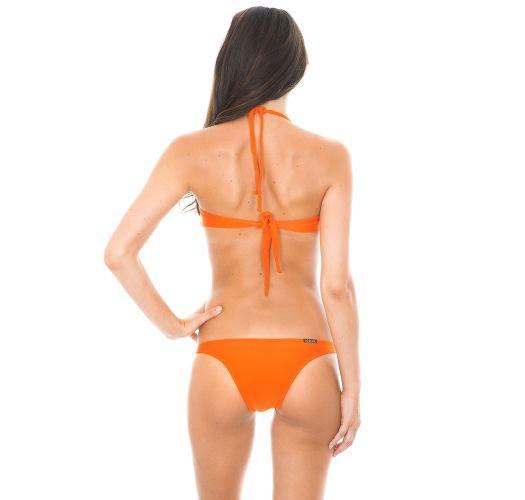 Bikini bandeau à coques orange foncé - KING TORCIDO TRIO