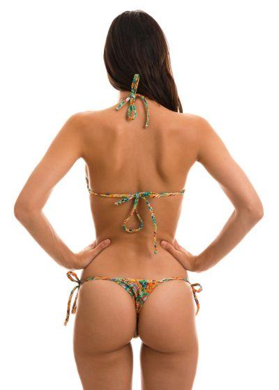 Sidoknytbar string bikini med färgstarkt geometriskt tryck - LAMPEDUSA MICRO