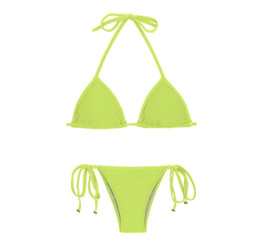 d5464f4a139 Two Piece Swimwear Lime Side-tie Brazilian Bikini - Lime Tri