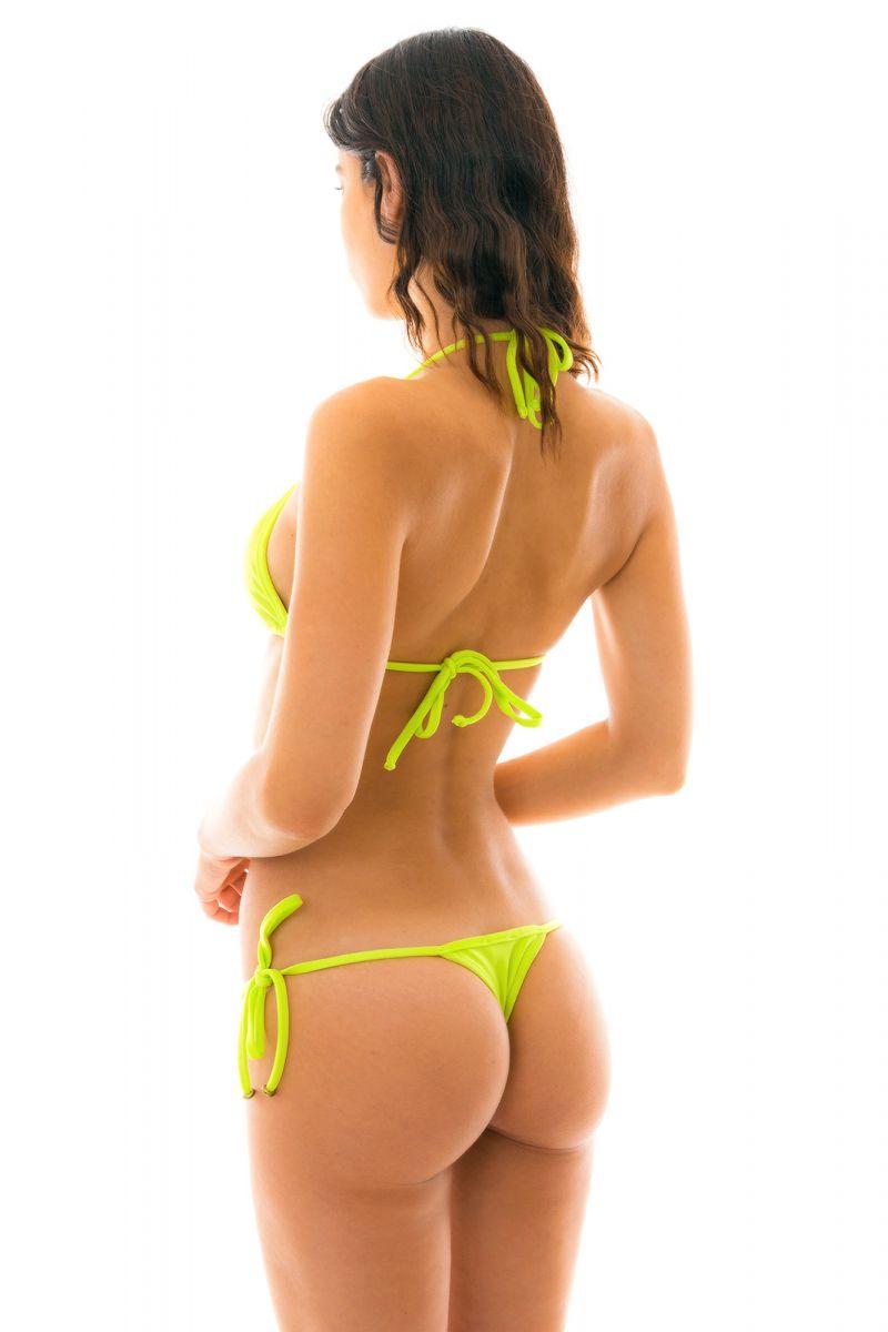 Limegrön, smyckad string bikini - LIME TRI MICRO
