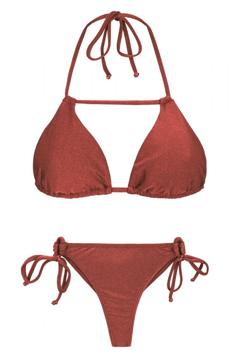 Tegelfärgad string bikini- LIQUOR DETAIL