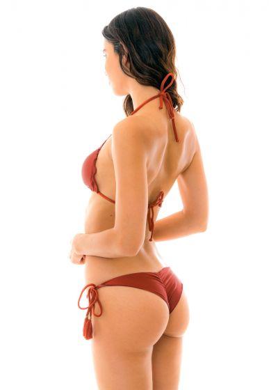 Rynkad, tegelfärgad bikini - LIQUOR FRUFRU