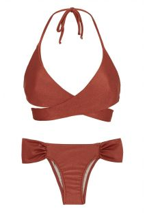 Bikini Bordeaux con top incrociato - LIQUOR TRANSPASSADO