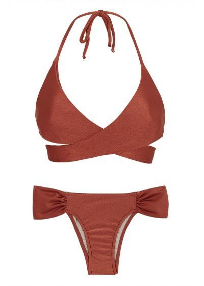 Tegelfärgad crossover bikini - LIQUOR TRANSPASSADO