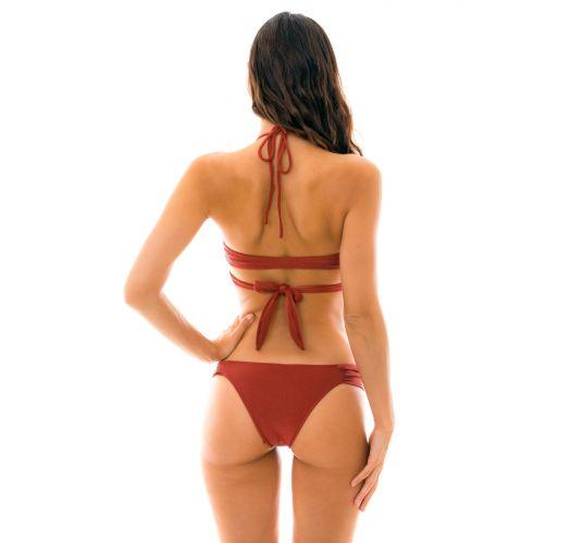 Burgundy wrap bra bikini - LIQUOR TRANSPASSADO