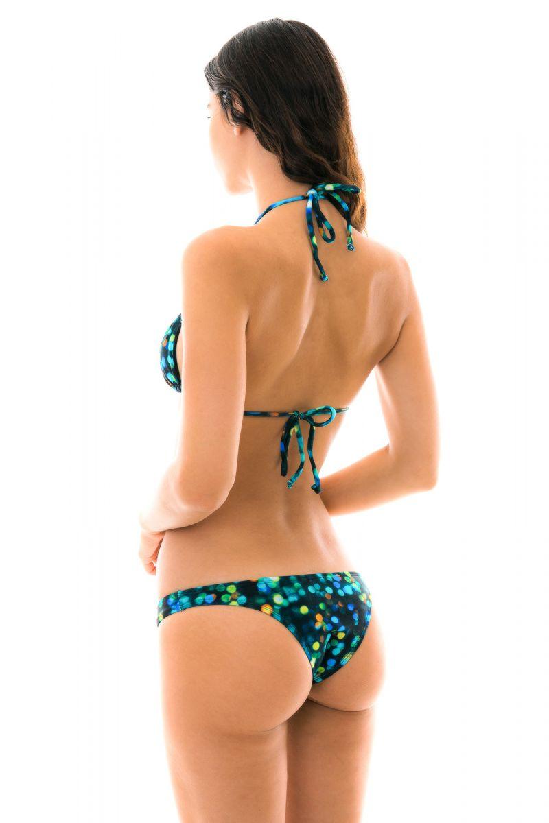 Printed black fixed bikini with crop top - LUCE DECOTE
