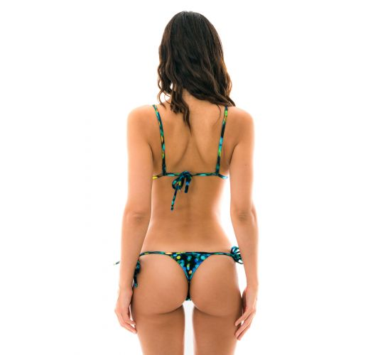 Black string bikini with a print - LUCE MICRO