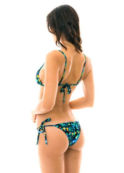 Svart och blå bikini med raka axelband - LUCE TRIANGULO