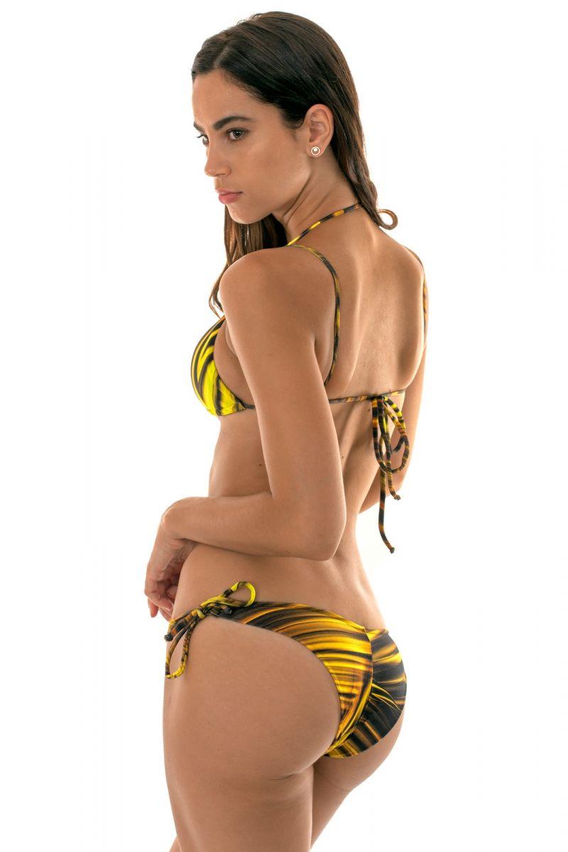 Yellow triangle bikini with strap neck - LUXOR TRI DUO