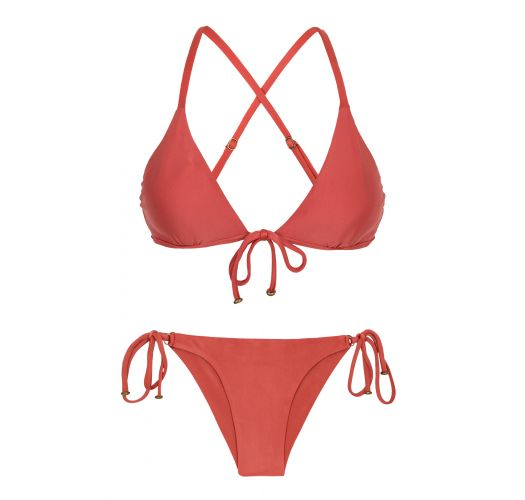 Brick color Brazilian bikini - MADRAS TRI ARG