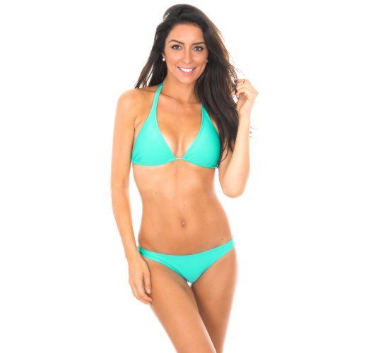 Sea green triangle scarf bikini - MARE CORTINAO BASIC