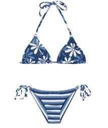 Blue Brazilian bikini with a mixture of prints - MARESIA CHEEKY