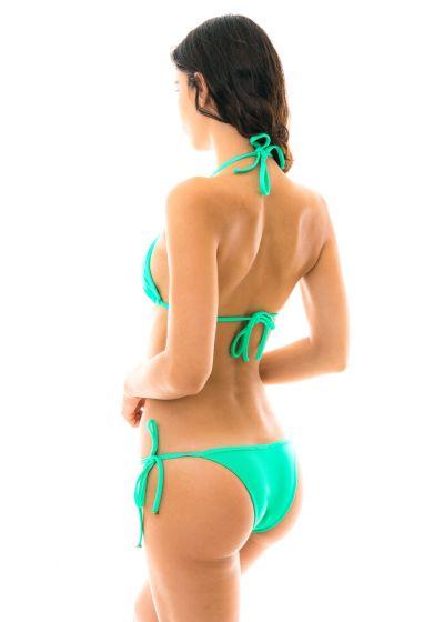 Mintgrön, smyckad knytbar bikini - MARESIA TRI