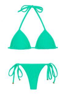 Mintgrön, knytbar smyckad string bikini - MARESIA TRI MICRO
