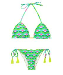Graphic print scrunch bikini - MERMAID FRUFRU